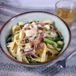 Tagliatelle with Duck Confit, Toasted Walnuts and Spring Vegetables