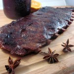BBQ Pork Spareribs with Blackberry Hoisin Sauce