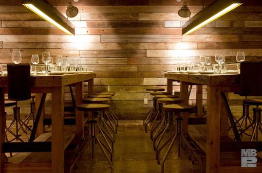 Manhattan Beach Post dining room (California). Via their website.