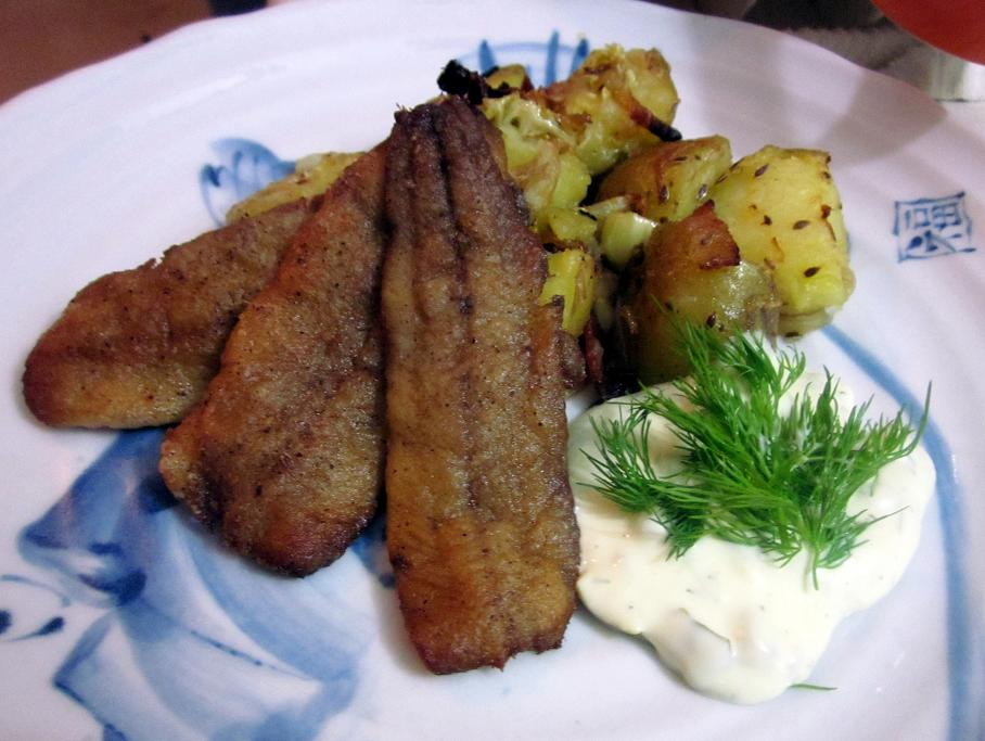 Pan Fried Herring with Roasted Potatoes