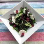 Kale Top Salad with Lemon Thyme Vinaigrette