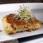 Wasabi Pea-Crusted Halibut