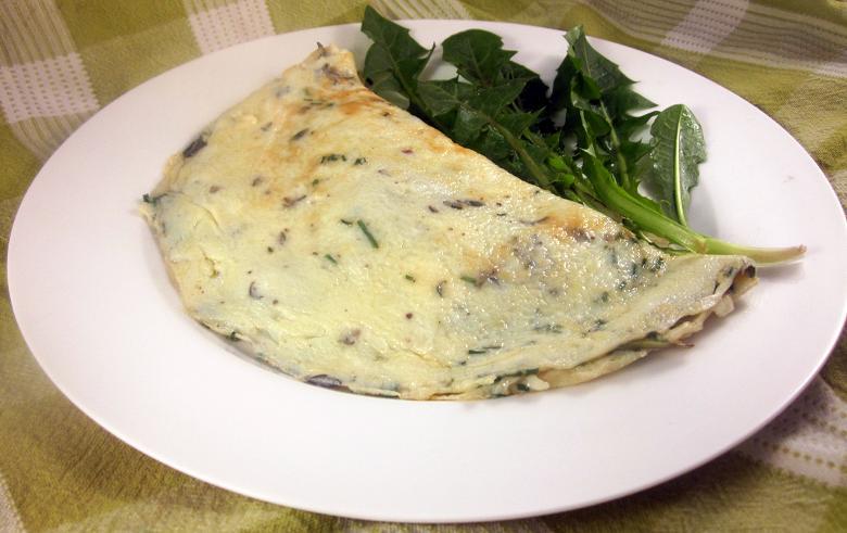 Dandelion Omelette 1