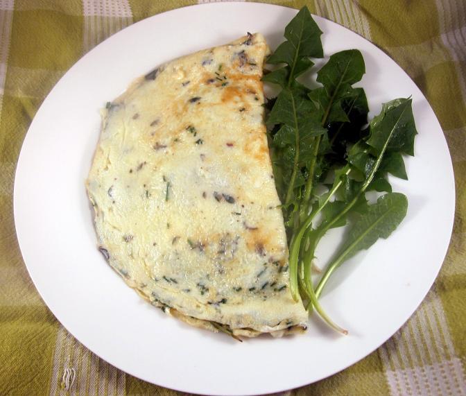 Dandelion Omelette 2